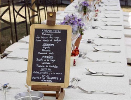 Nuevos Menú para bodas, comuniones y eventos 2018